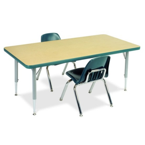 Attractive Rectangular Activity Table With Heavy Duty Laminate Top   Preschool Height  Adjustable Legs