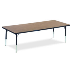 "Virco 483072CHRM- Rectangular 30"" x 72"" Activity Table, 1 1/8 inch Thick Laminate Top, Adjustable Legs All Chrome  (Virco 483072CHRM)"