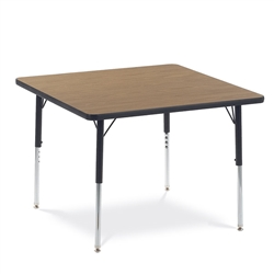 "Virco 483636LO- Square 36"" x 36"" Activity Table, 1 1/8 inch Thick Laminate Top, Preschool Height Adjustable Legs  (Virco 483636LO)"