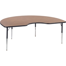 "Virco 48KID72LOCHRM- Kidney 48"" x 72"" Activity Table, 1 1/8 inch Thick Laminate Top  (Virco 48KID72LOCHRM)"