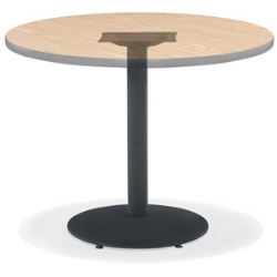 "Virco 63822SU - Cafe table base 22"" Diameter, Stand-Up Table Base, round black wrinkle base, 42"" top height,  (Virco 63822SU)"