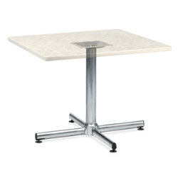 "Virco 66433 - Cafe table base 33"" Diameter, X-shape Chrome Base, 29"" top height,  (Virco 66433)"