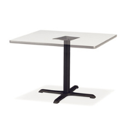 "Virco 66833 - Cafe table base 33"" Diameter, cross-shape black wrinkle, 29"" top height,  (Virco 66833)"