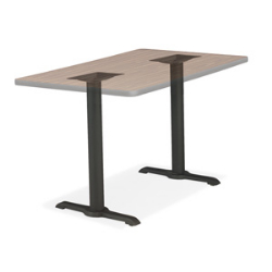 "Virco 66920 - 20"" Diameter Bi-point cafe table base, black wrinkle, 29"" top height,  (Virco 66920)"