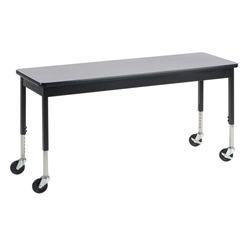 "Virco 6800 Series Multi-Purpose Table w/Caster - 20""W x 60""L x 24""-34""H"