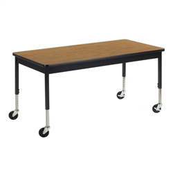 "Virco 6800 Series Multi-Purpose Table w/Caster - 30""W x 60""L x 24""-34""H"