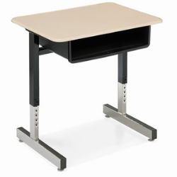"Virco 871M - Student Desk with Open Front Book Box, 20"" x 26"" Hard Plastic Top, Cantilever Legs  (Virco 871M)"