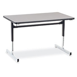 "Virco 873048 -  Computer Table - Rectangular 30"" x 48"", 1 1/8"" Thick Laminate Top, Height Adjusts 22"" - 30""  (Virco 873048)"