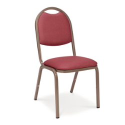 Virco 8917 - Upholstered Stack Chair, Rounded Back, Padded Dome Seat  (Virco 8917)