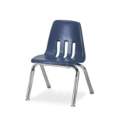 "Virco 9012 - 9000 Series 4-Legged Chair with Steel Back Support - 12"" Seat Height  (Virco 9012)"