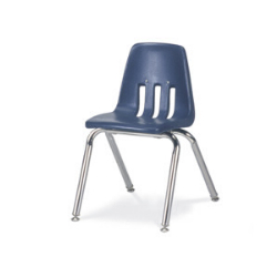 "Virco 9014 - 9000 Series 4-Legged Chair with Steel Back Support - 14"" Seat Height  (Virco 9014)"