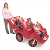 Angeles 6 Passenger Bye-Bye Baby Buggy® Never Flat Fat Tire - Red (Angeles AGL-AFB6400F)
