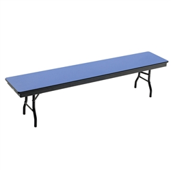 "AmTab Folding Cafeteria Bench Seat w/ Plywood Core - 72""W x 15""D x 17""H (AmTab AMT-B156DP)"