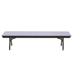 "AmTab Folding Cafeteria Bench Seat w/ Particleboard Core - 96""W x 15""D x 17""H (AmTab AMT-B158D)"