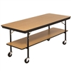 "AmTab Mobile Folding Buffet Table w/ Laminate Plywood Top - 30""W x 96""L x 30""H (AmTab AMT-BT308DP)"