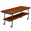 "AmTab Mobile Folding Buffet Table w/ Sealed Plywood Top - 30""W x 96""L x 30""H (AmTab AMT-BT308P)"