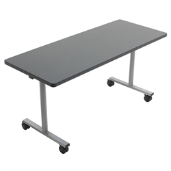 "AmTab Rectangle Mobile EZ-Tilt Cafeteria Table - 24"" W x 96"" L (AmTab AMT-CB2496)"