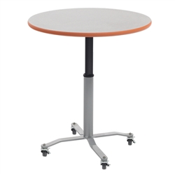 "AmTab Round Mobile EZ-Tilt Adjustable-Height Cafe Tables - 36"" Diameter (AmTab AMT-CBR36)"