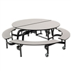 "AmTab Round Mobile Bench Cafeteria Table - 60"" Diameter (AmTab AMT-MBR604)"