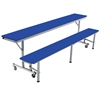 "AmTab Mobile Convertible Bench Cafeteria Table - 29""W x 7'L (AmTab AMT-MCB7)"