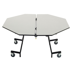 "AmTab Round Mobile Stool Cafeteria Table - 60"" Diameter (AmTab AMT-MOC60)"