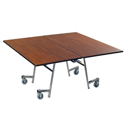 "AmTab Square Mobile Cafeteria Table - 60""W x 60""L (AmTab AMT-MSQ60)"