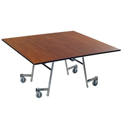"AmTab Square Mobile EZ-Tilt Cafeteria Table - 60"" Square (AmTab AMT-MSQZT60)"