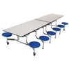 "AmTab Mobile Stool Cafeteria Table - 30""W x 12' 1""L (AmTab AMT-MST1212)"