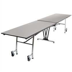 "AmTab Rectangle Mobile Cafeteria Table - 36""W x 10' 1""L (AmTab AMT-MT1036)"