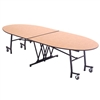 "AmTab Elliptical Mobile Cafeteria Table - 46""W x 10'L (AmTab AMT-MTE1046)"