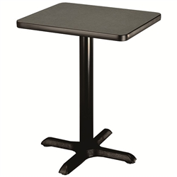 "AmTab Square Pedestal Cafe Table - 24""W x 24""L x 30""H (AmTab AMT-PT2430)"