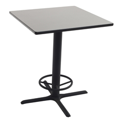 "AmTab Square Stool-Height Cafe Table - 36""W x 36""L x 42""H (AmTab AMT-PT3642)"