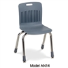 "Virco AN14 - Analogy Series 4-Legged School Chair, 14"" Seat Height (Virco AN14)"