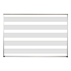 Best-Rite Aluminum Trim - Porcelain Markerboard - with Music Line  - 4' H x 6' W  (Best-Rite BES-202AG-S1)