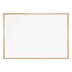 "Best-Rite Wood Trim - Porcelain Markerboard - 34""H X 48""W  (Best-Rite BES-202WC)"