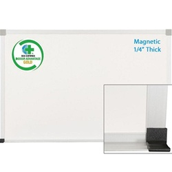 Best-Rite ABC Porcelain Magnetic Markerboard with Map Rail - 2'H x 3'W<br> (Best-Rite BES-2H2NB-M)