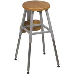 Balt LAB STOOL WITHOUT BACK Gray Color  (Balt BES-34419R)