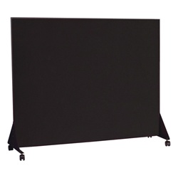 Best-Rite Black anodized - Markerboard one side - flannel one side 4' L x 4' H  (Best-Rite BES-649D)