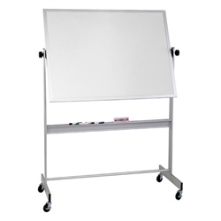 "Best-Rite Porcelain Markerboard -both sides Aluminum Trim - 48""H x 72""W  (Best-Rite BES-668AG-DD)"
