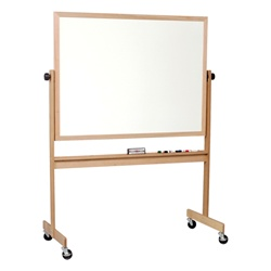"Best-Rite Porcelain Markerboard/Natural Cork Light Oak Wood Frame - 48""H x 60""W  (Best-Rite BES-668WF-DC)"