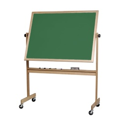 Best-Rite Porcelain Chalkboard both sides - Light Oak Wood Frame - 4' H x 6' W  (Best-Rite BES-668WG-EE)