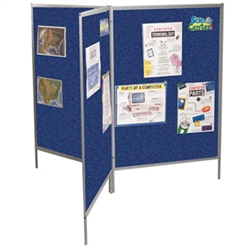 Best-Rite Royal Blue Hook & Loop Fabric Floor Display Panels - Set of 3  (Best-Rite BES-689D3-59)