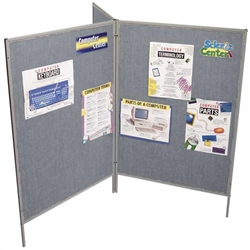 Best-Rite Hook & Loop Fabric Floor Display Panel - Set of 3 (Best-Rite BES-689D3-61)