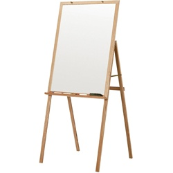 "Best-Rite Oak Presentation Easel - Natural - 69 1/2""H x 30""W x 31 1/2""D  (Best-Rite BES-745)"