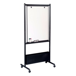 Best-Rite Nest Easel - Black - Porcelain-on-Steel Markerboard  (Best-Rite BES-781P)