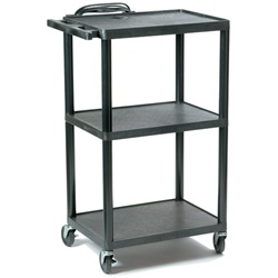 "BHL-PC1642E Buhl Black Resin Plastic Adjustable Cart - 16"" to 42"" (Buhl BHL-PC1642E)"