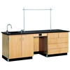 "Diversified Woodcrafts Instructors Desk w/ Sink & Cabinet - 96"" W X 30"" D <br>(Diversified Woodcrafts DIV-1114K)"