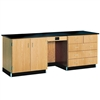 "Diversified Woodcrafts Instructors Desk w/ Flat Top - 96"" W X 30"" D <br>(Diversified Woodcrafts DIV-1114KF)"