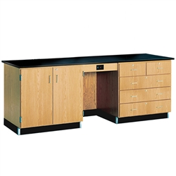 "Diversified Woodcrafts Instructor's Desk w/ Flat Top - 96"" W X 30"" D <br>(Diversified Woodcrafts DIV-1116KF)"