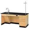 "Diversified Woodcrafts Ada Instructor's Science Desk - 72"" W X 30"" D<br>(Diversified Woodcrafts DIV-1214K-L-ADA)"